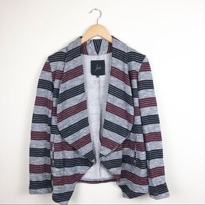 Jack by BB Dakota Striped Open Sweater Cardigan